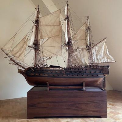 "Large Model Of The Vessel ""le Superbe"" (1782-1795)"