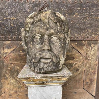 Sculpture d'Attache Représentant Un Grotesque XVIIIè