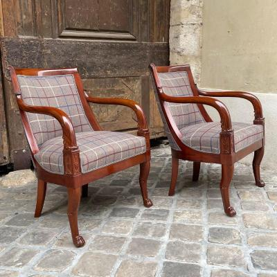 Pair Of Consulate Armchairs (1799-1804)