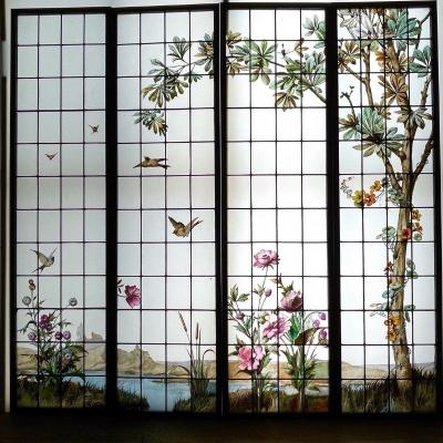 Stained Glass Stained Glass Birds And Flowers