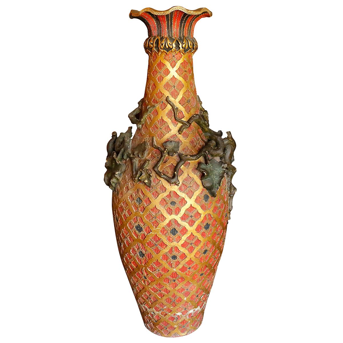 Grand vase De Bodega XIXème