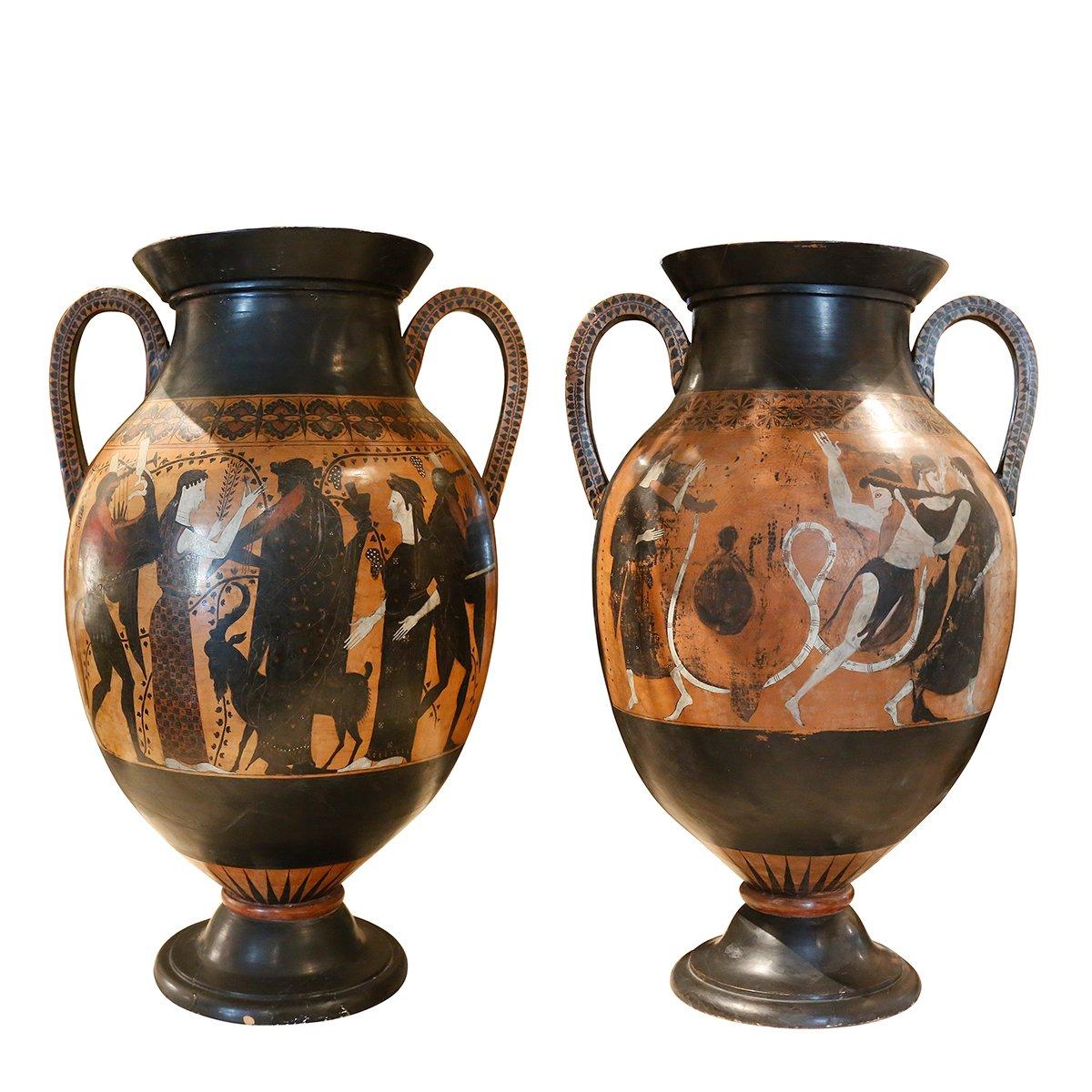 Paire De Vases En Terre Cuite XIXème