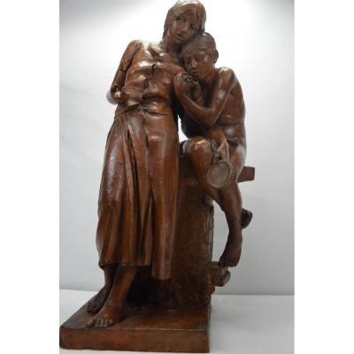 Statue Terre Cuite
