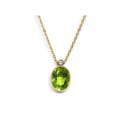 1960s Pendant, Set With A Peridot Probably From Burma