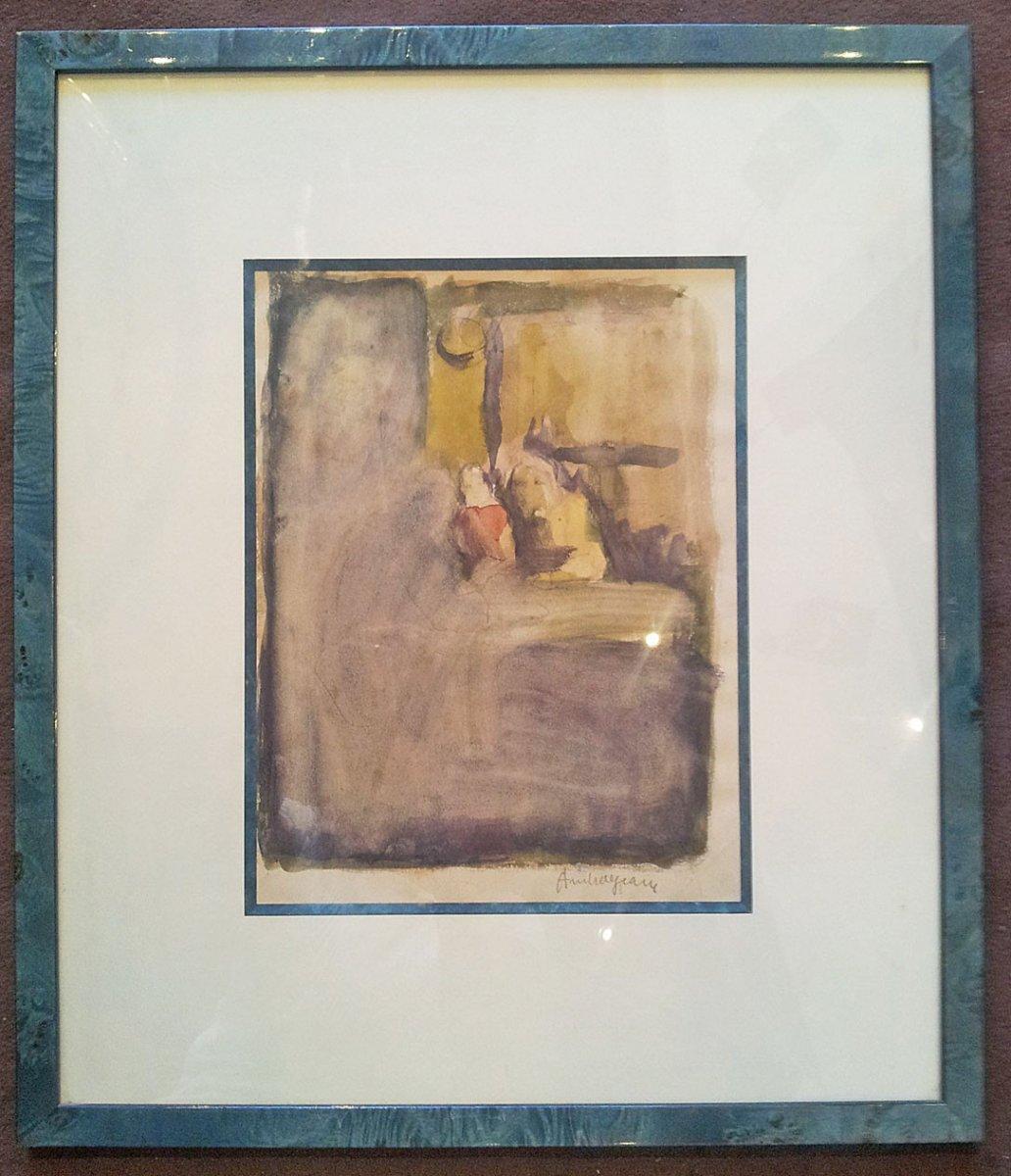 Pierre Ambrogiani (ajaccio 1907-1985) - Watercolor