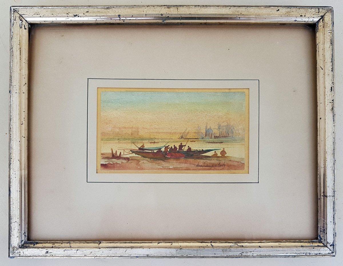 Louis Amable CRAPELET (France 1822-1867) - Aquarelle Orientaliste
