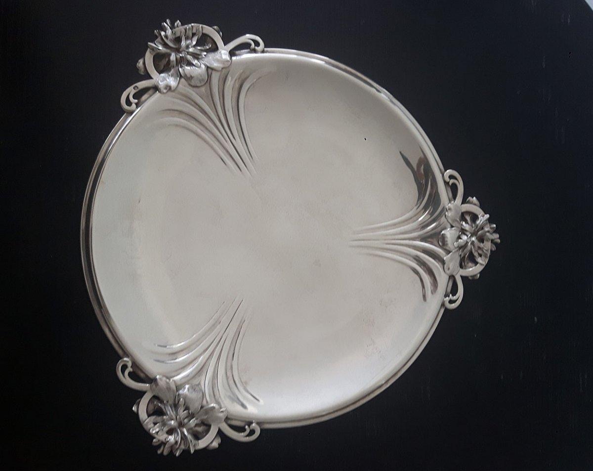 Maison Cardeilhac (1804-1951) - Art Nouveau Solid Silver Dish
