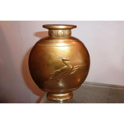 """Georges DUNAIME - Vase """"Antilope"""", circa 1925"""