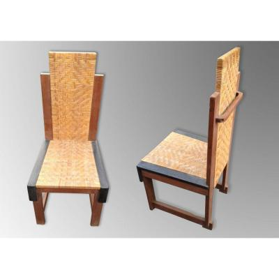 Francis Jourdain (1876-1958) - Pair Of Chairs From The Thirties.