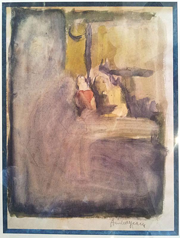 Pierre Ambrogiani (ajaccio 1907-1985) - Watercolor-photo-2