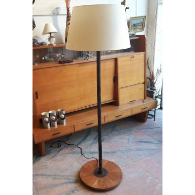 Hammered Metal Floor Lamp, Circa 1940.
