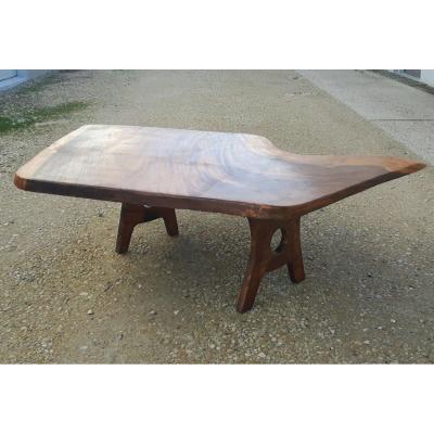 Dans le goût de Georges NAKASHIMA (1905-1990) - Table Basse, années 70.