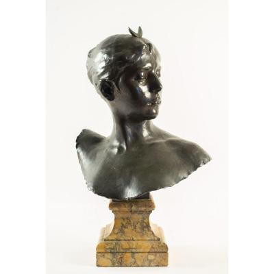 Alexandre FALGUIÈRE (1831-1900) - Bronze Diane Chasseresse, XIXème.