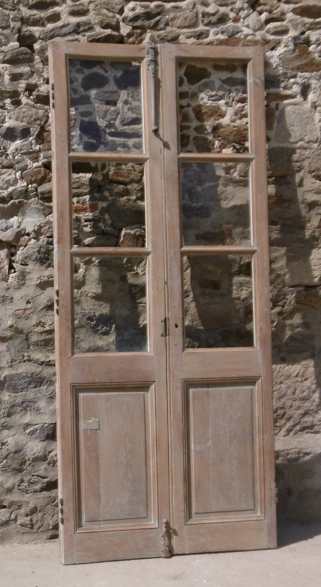 Antique 18th Century Glass Door In Oak Doors Woodwork Library Showcase