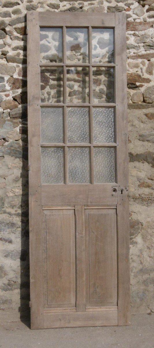 Porte Ancienne Vitrée XVIIIème En Chêne Portes Boiserie