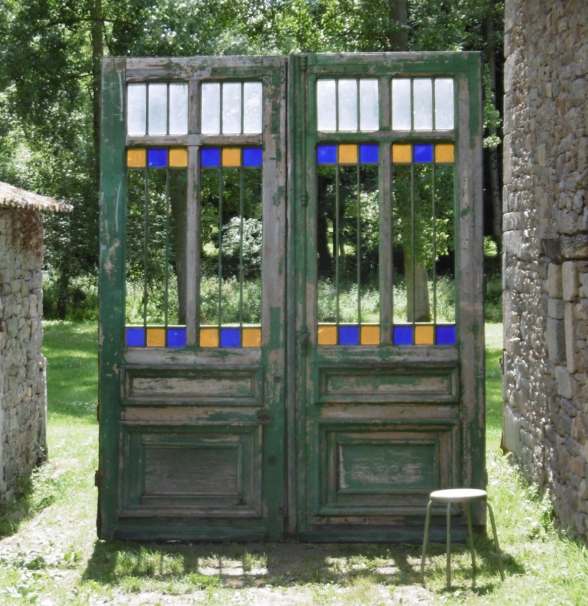 Portail Double Porte XIXème Ancienne Monumental Portes