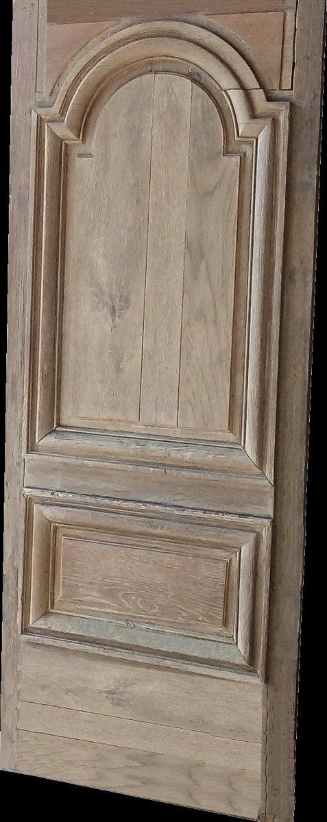 Porte Ancienne époque XVIIIème En Chêne Boiserie Portes