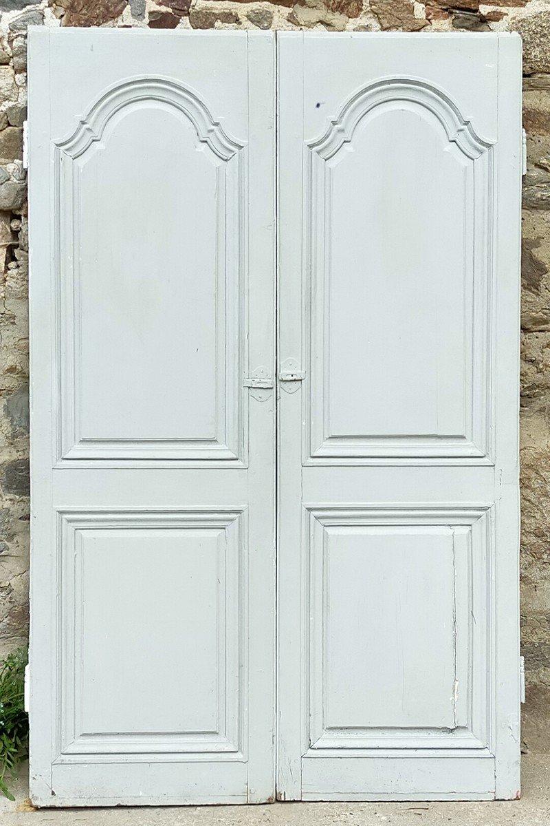 Portes De Placard Ancienne En Chêne Massif époque XVIIIème Porte
