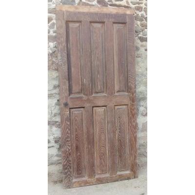 Porte Ancienne En Chêne XVIIIème - Boiserie Portes