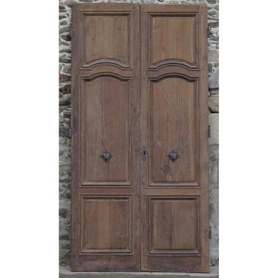 Double Porte Ancienne XVIIIème Belles Ferronneries d'Origine Portes