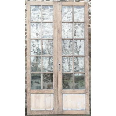 Large Double Glass Door Former Workshop Loft Orangerie Doors