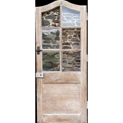 Porte Vitrée époque XVIIIème Régence En Chêne En Très Bon état Portes Boiserie