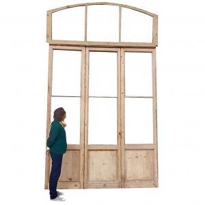 Elegant Old Bay Window 3 Doors Loft Workshop Store Orangerie Door + Frame 2/2