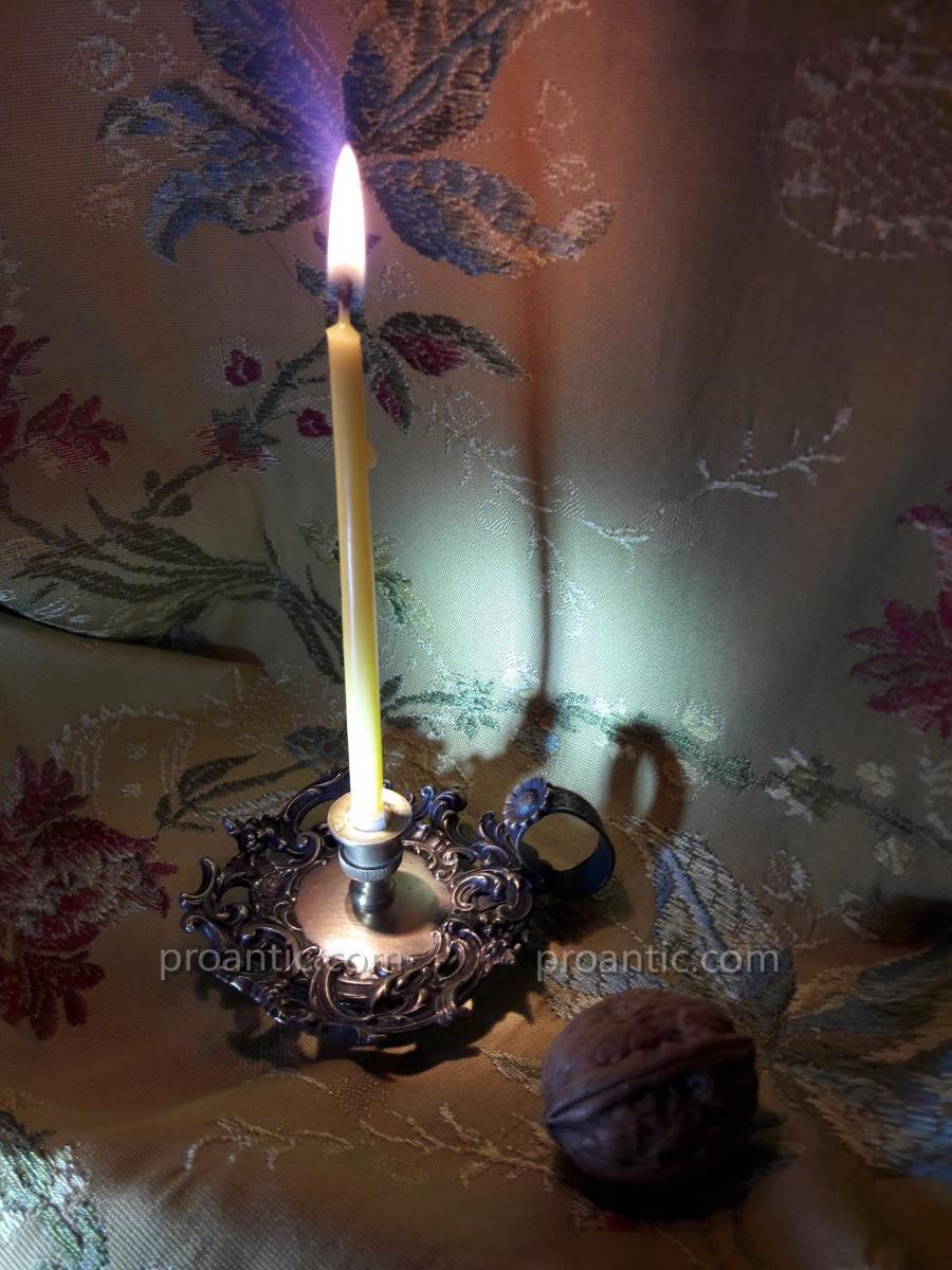 Miniature Candlestick Hand Style L XV End 19th Early 20th Century
