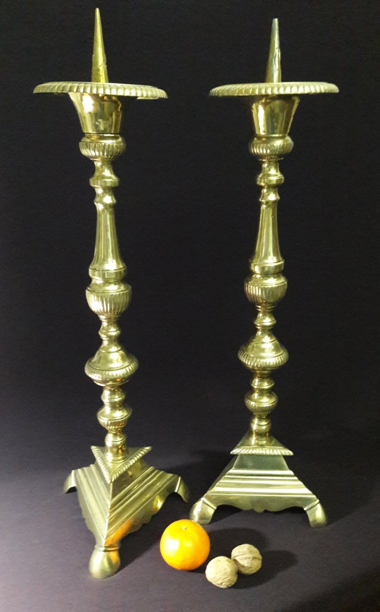 Candle Pique (pair Of)