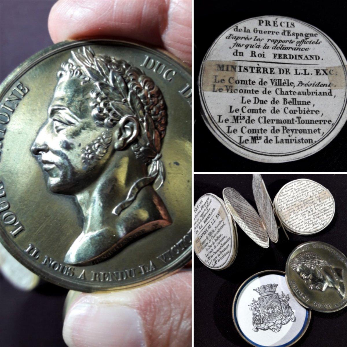 Brass Box Medal Historical Subject: Louis Antoine d'Artois