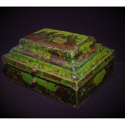 18th Century Papier Mache Wig Box