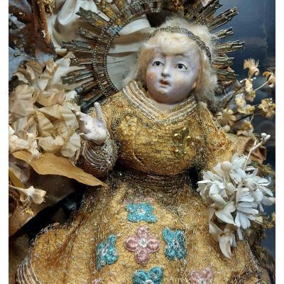 Neapolitan Santons: Jesus Child And His Guardian Angel 18th Century