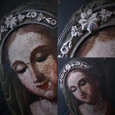 Portrait De La Vierge Marie Début 17e Siècle