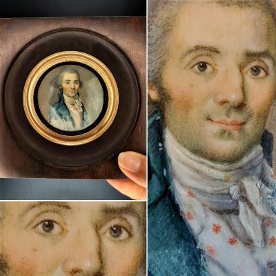 Portrait De Gentilhomme Début 19e Siècle