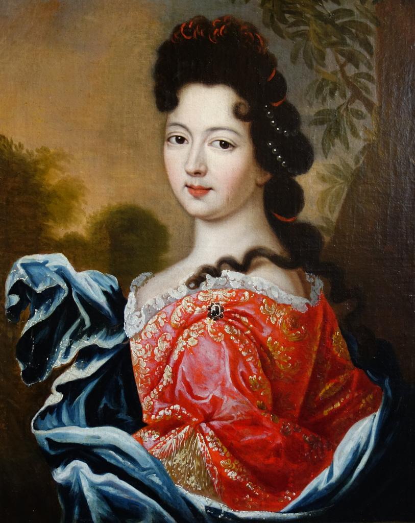 Portrait d'Une Dame De Qualité Epoque Louis XIV