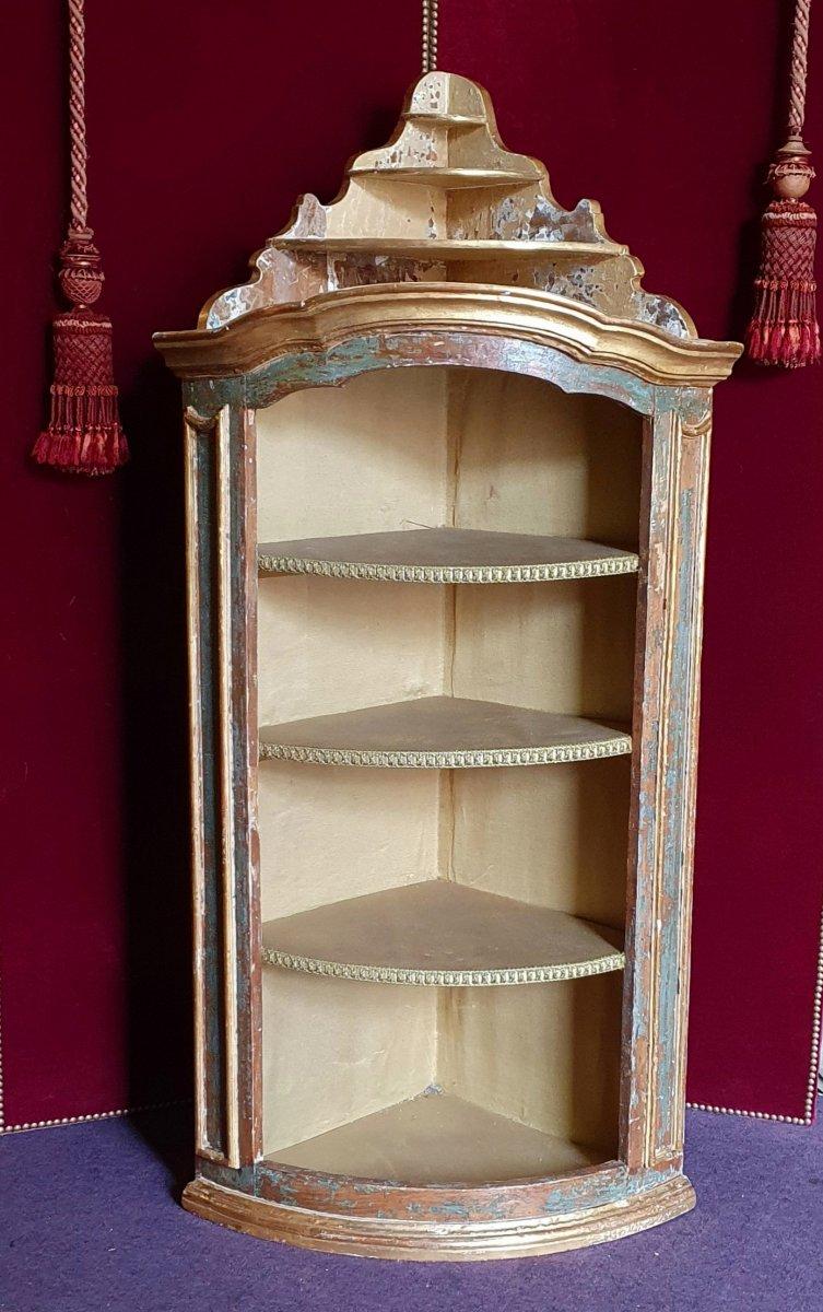 Meuble d'Encoignure Epoque Louis XV-photo-2