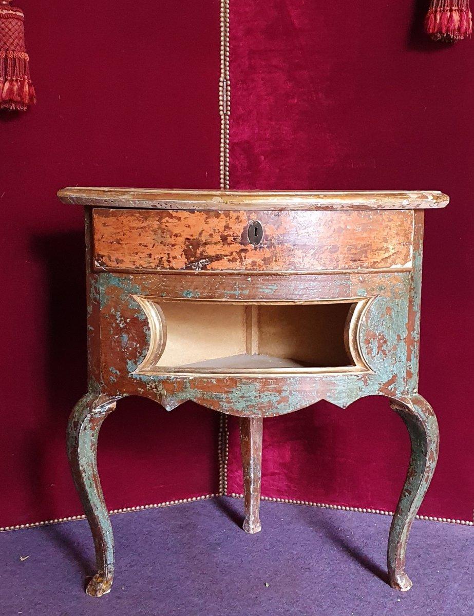 Meuble d'Encoignure Epoque Louis XV-photo-3