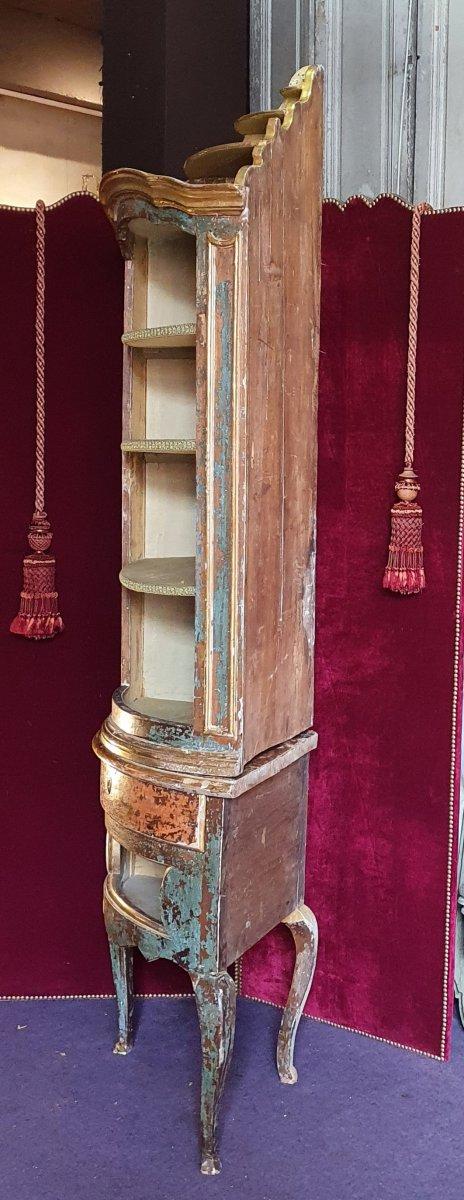 Meuble d'Encoignure Epoque Louis XV-photo-4