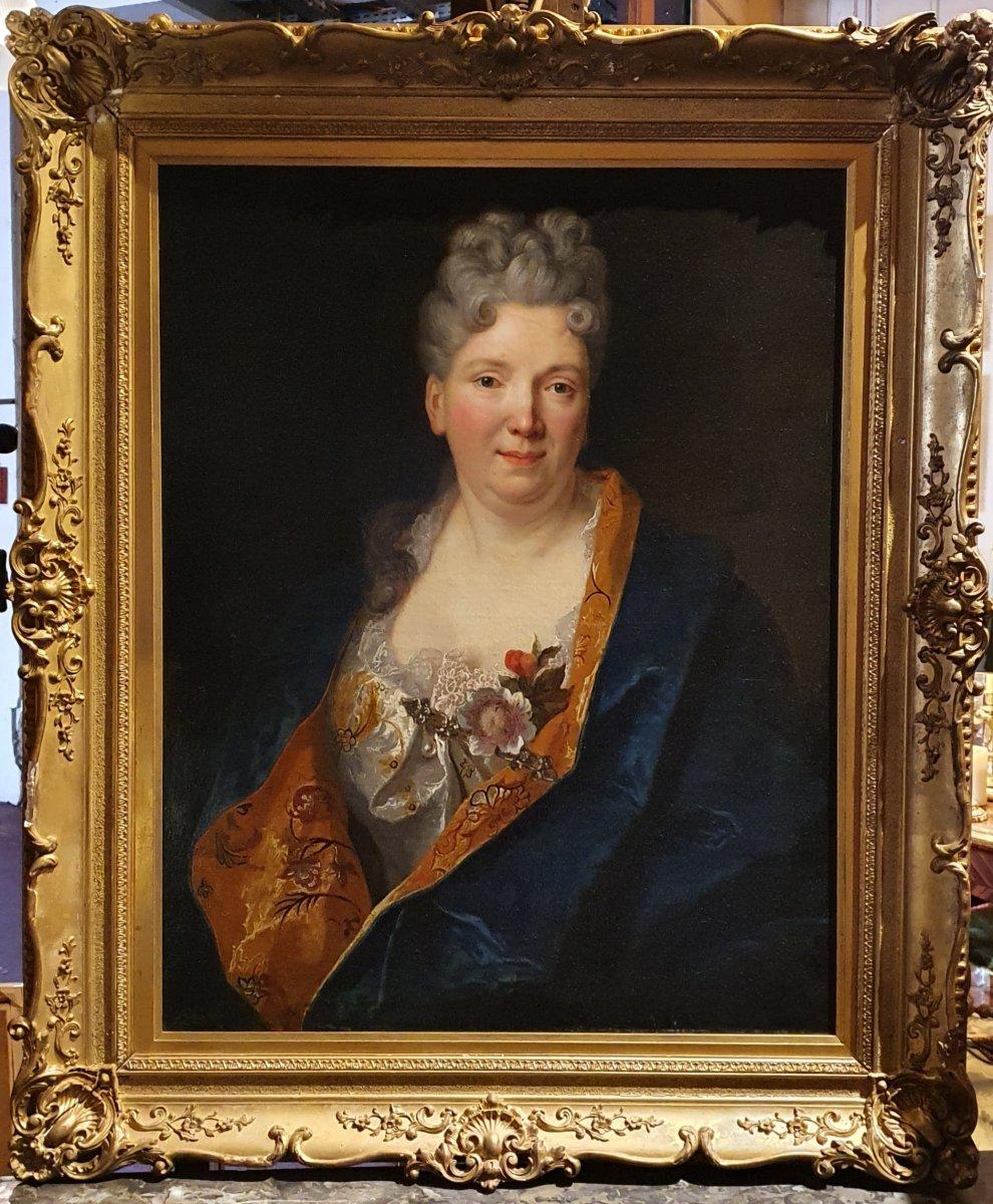 Portrait De Femme Epoque Louis XV