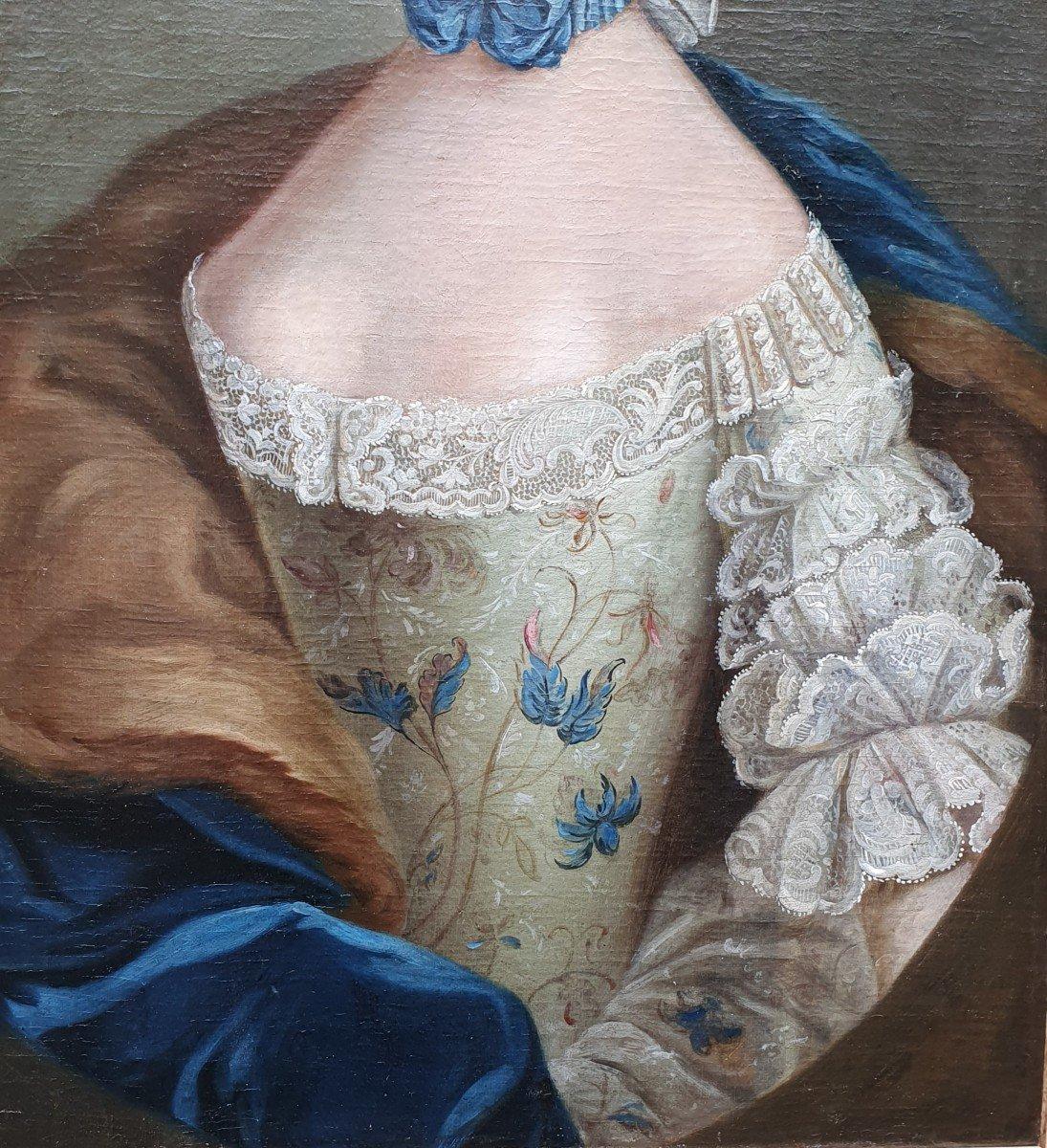 Portrait De  Marie Josephine Barbe Claire De La Mock Epoque Louis XV-photo-3