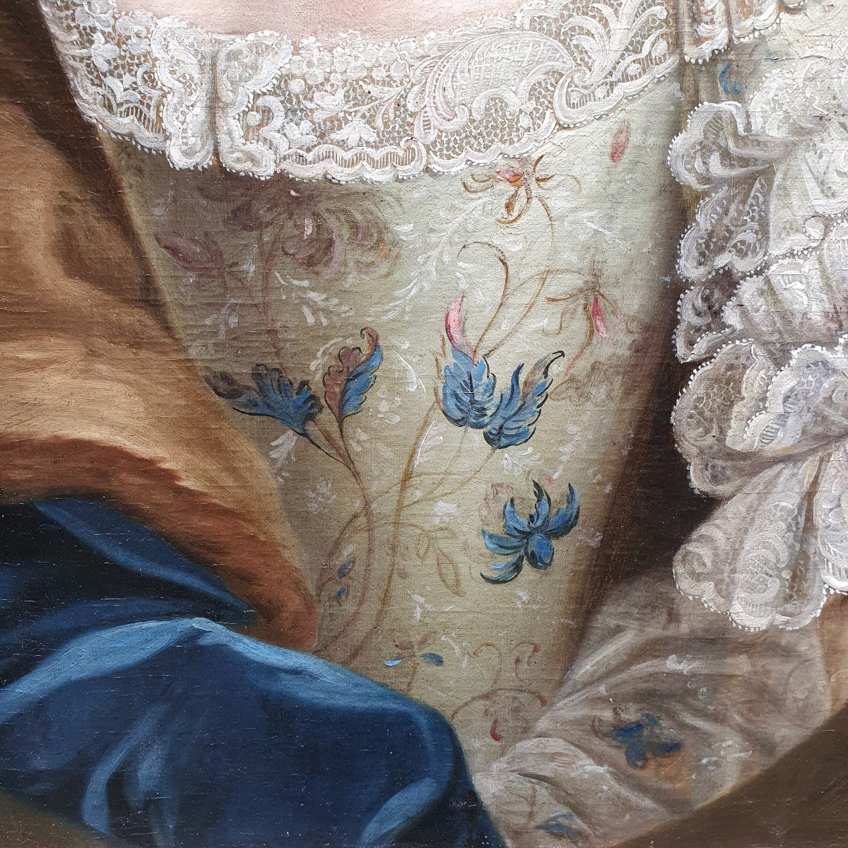 Portrait De  Marie Josephine Barbe Claire De La Mock Epoque Louis XV-photo-4