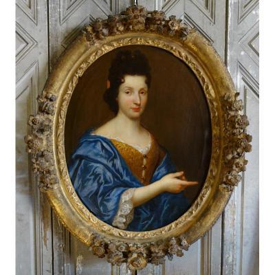 Portrait De Femme Epoque XVIIIème Siècle