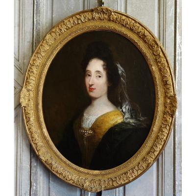 Portrait De Femme Epoque XVIIème Siècle