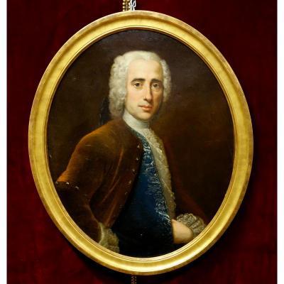 Portrait d'Homme Epoque Louis XV