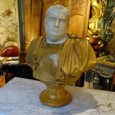 Buste d'Empereur Romain Epoque XIXème Siècle