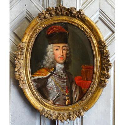 Portrait d'Un Souverain Epoque XVIIIème Siècle