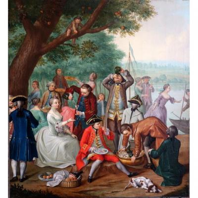 Scène De Genre Epoque Louis XV