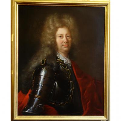 Portrait d'Un Homme En Armure Epoque Louis XIV