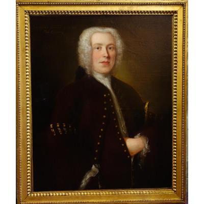 Portrait d'Un Jeune Homme Epoque XVIIIème Siècle