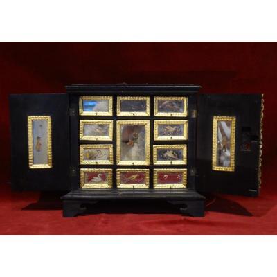 Petit Cabinet De Voyage Vénitien Epoque Louis XV